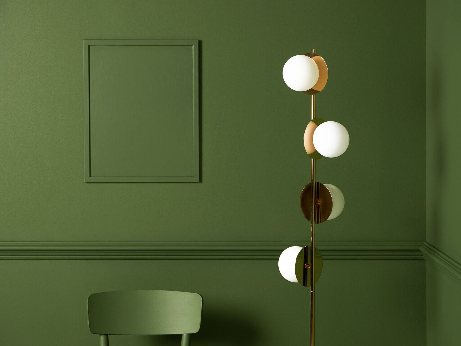 opal disc floor lamp brass| houseof.com
