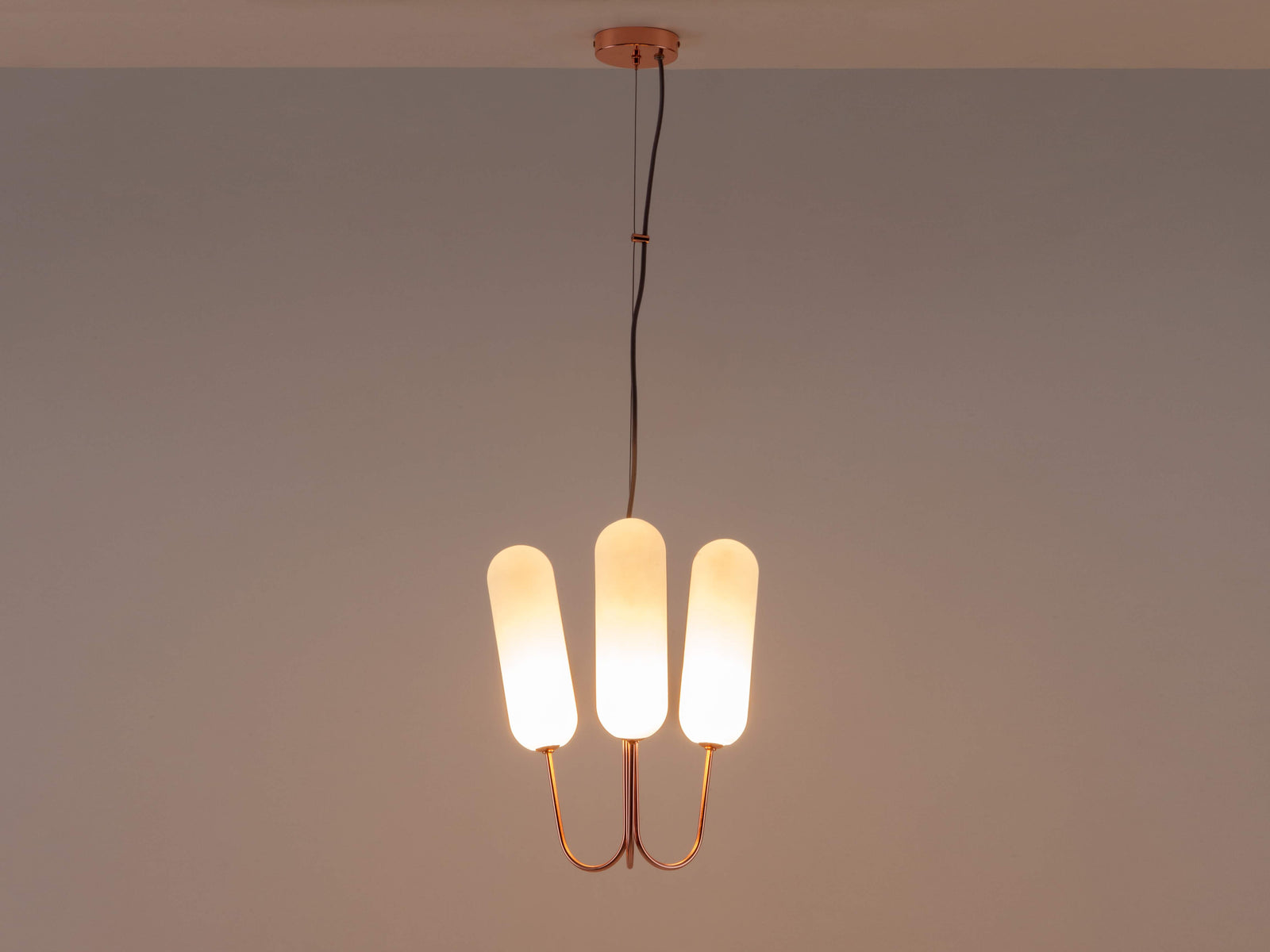 3 Light pill chandelier copper | dark | houseof.com