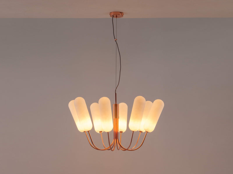8 Light pill chandelier copper | dark | houseof.com