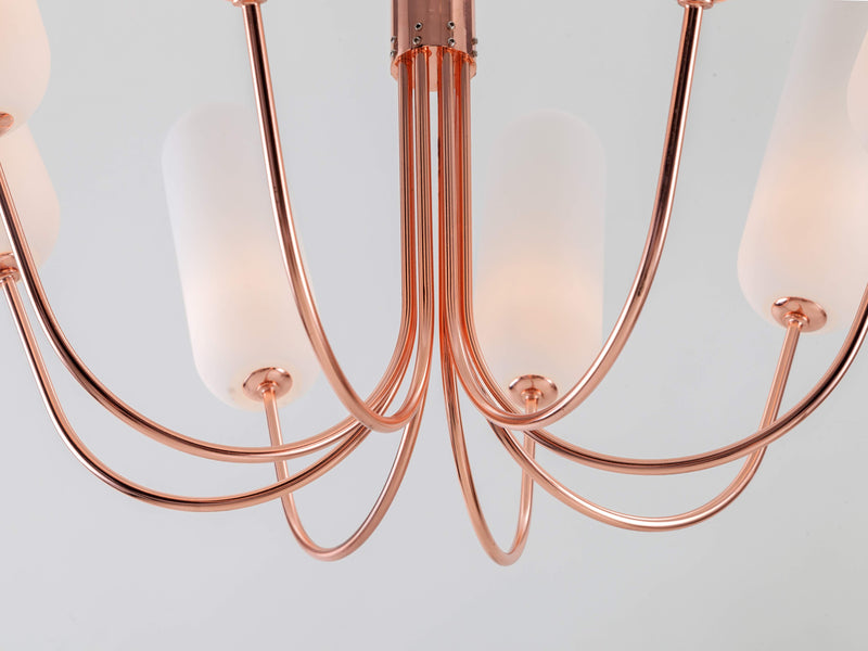 8 Light pill chandelier copper | frame | houseof.com