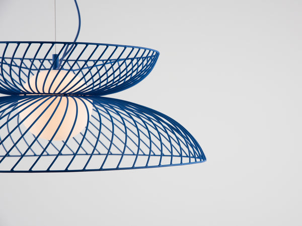 Cage pendant ceiling light blue | colour | houseof.com
