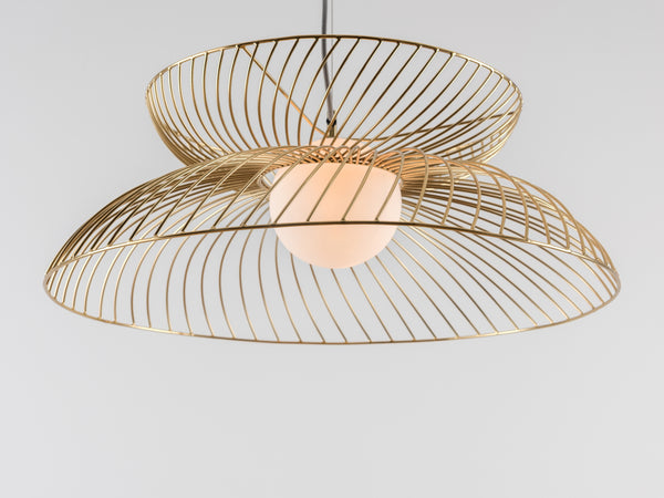 Cage pendant ceiling light brass | detail | houseof.com