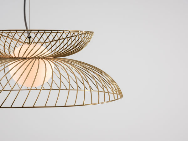 Cage pendant ceiling light brass | colour | houseof.com