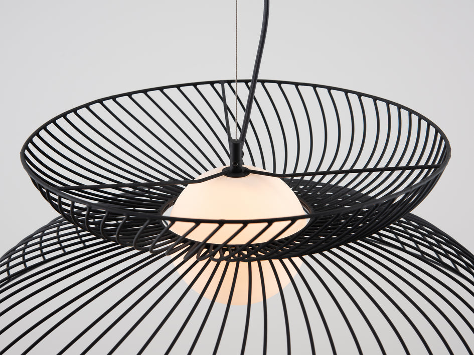 Cage pendant ceiling light charcoal | zoom | houseof.com