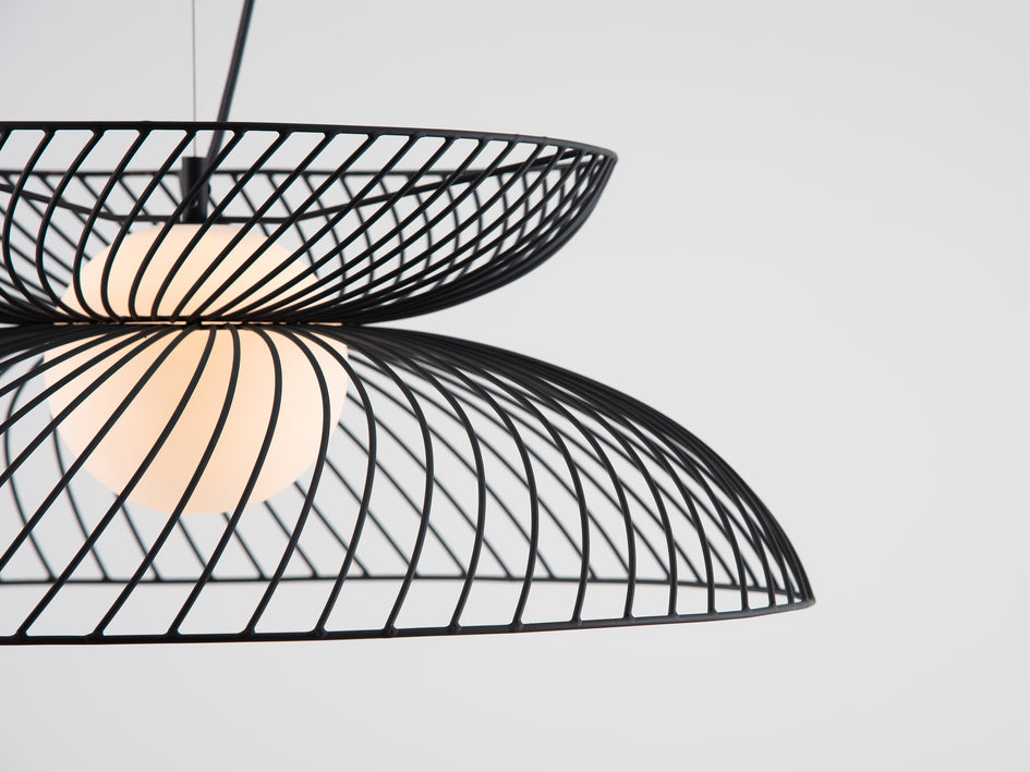 Cage pendant ceiling light charcoal | detail | houseof.com