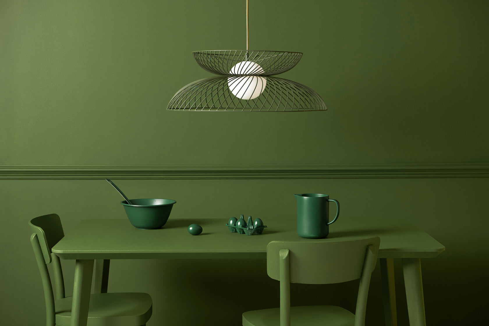 Cage pendant ceiling light copper | context | houseof.com