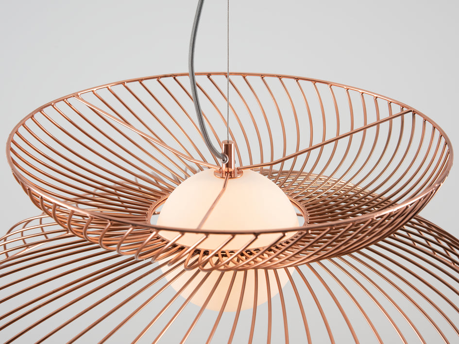 Cage pendant ceiling light copper | detail | houseof.com