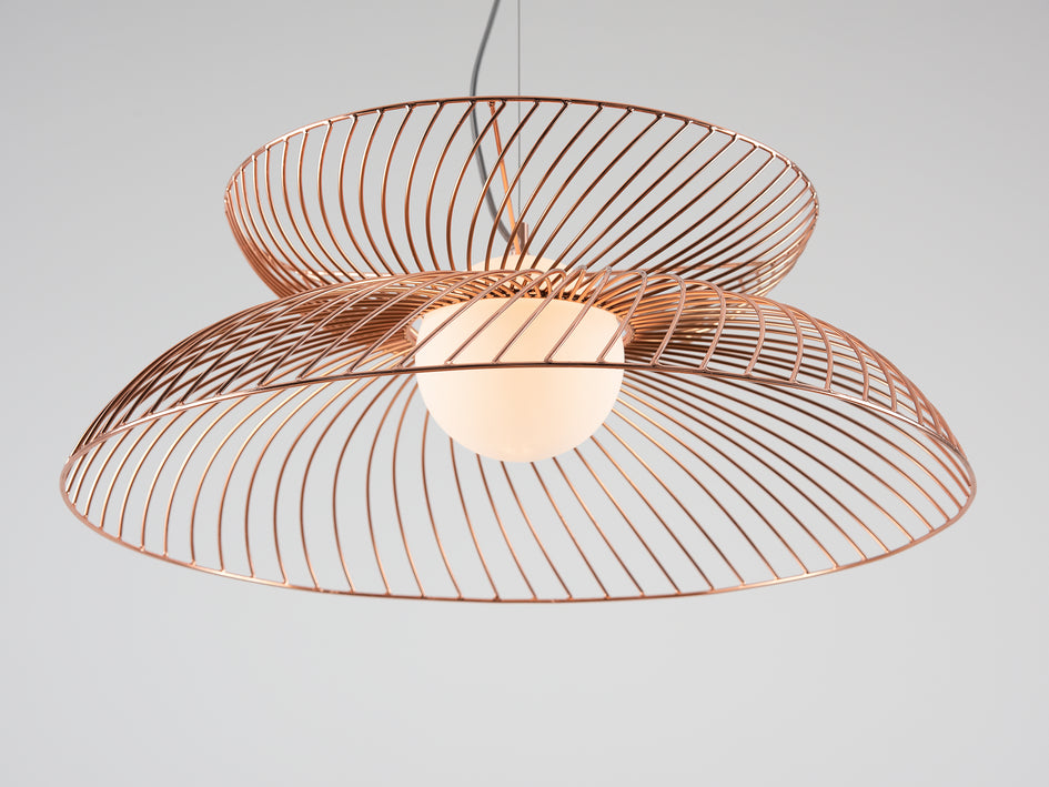 Cage pendant ceiling light copper | zoom | houseof.com