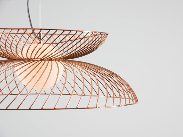 Cage pendant ceiling light copper | colour | houseof.com