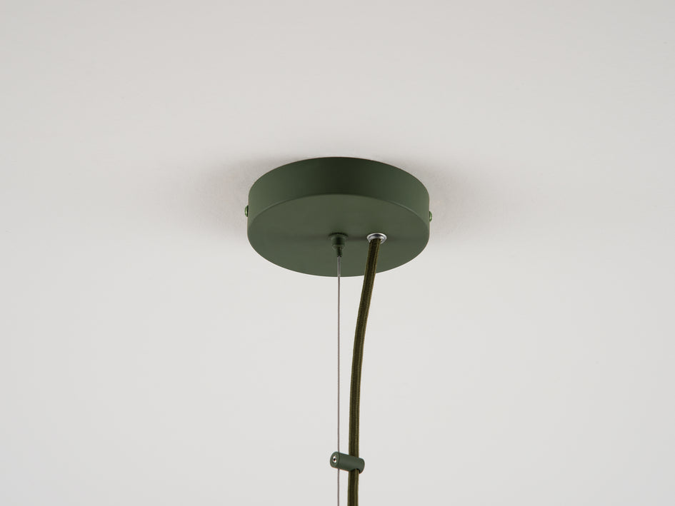 Cage pendant ceiling light olive | cup | houseof.com