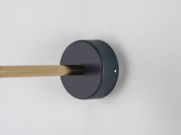 LED task wall light charcoal | bracket | houseof.com