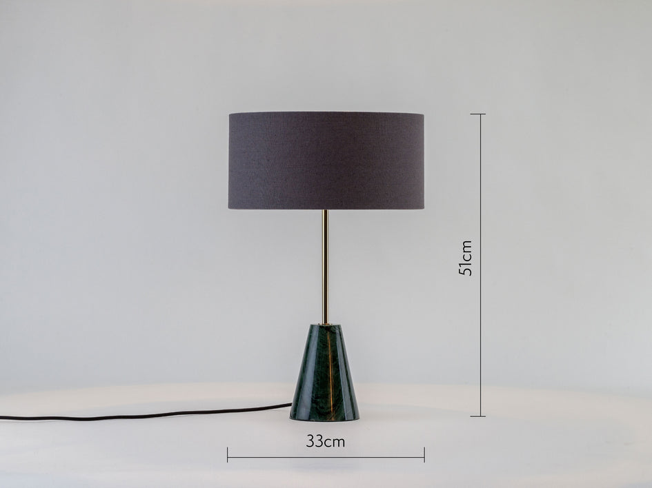 Marble table lamp green marble | dimensions | houseof.com