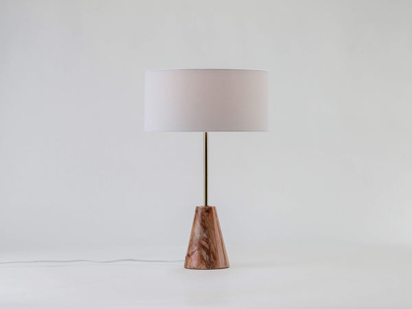 Marble table lamp pink marble | off | houseof.com