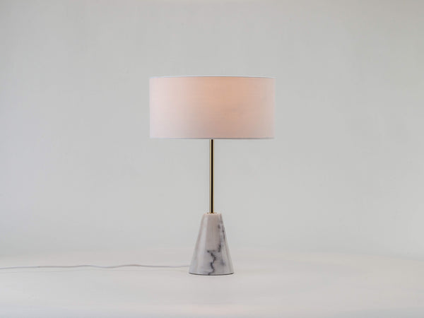 Marble table lamp white | on | houseof.com