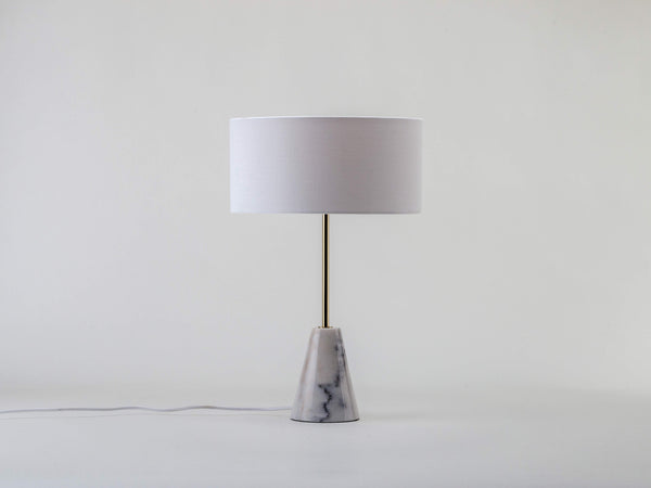 Marble table lamp white | off | houseof.com