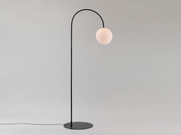 Curve floor lamp charcoal | on | houseof.com