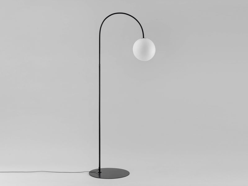 Curve floor lamp charcoal | off | houseof.com