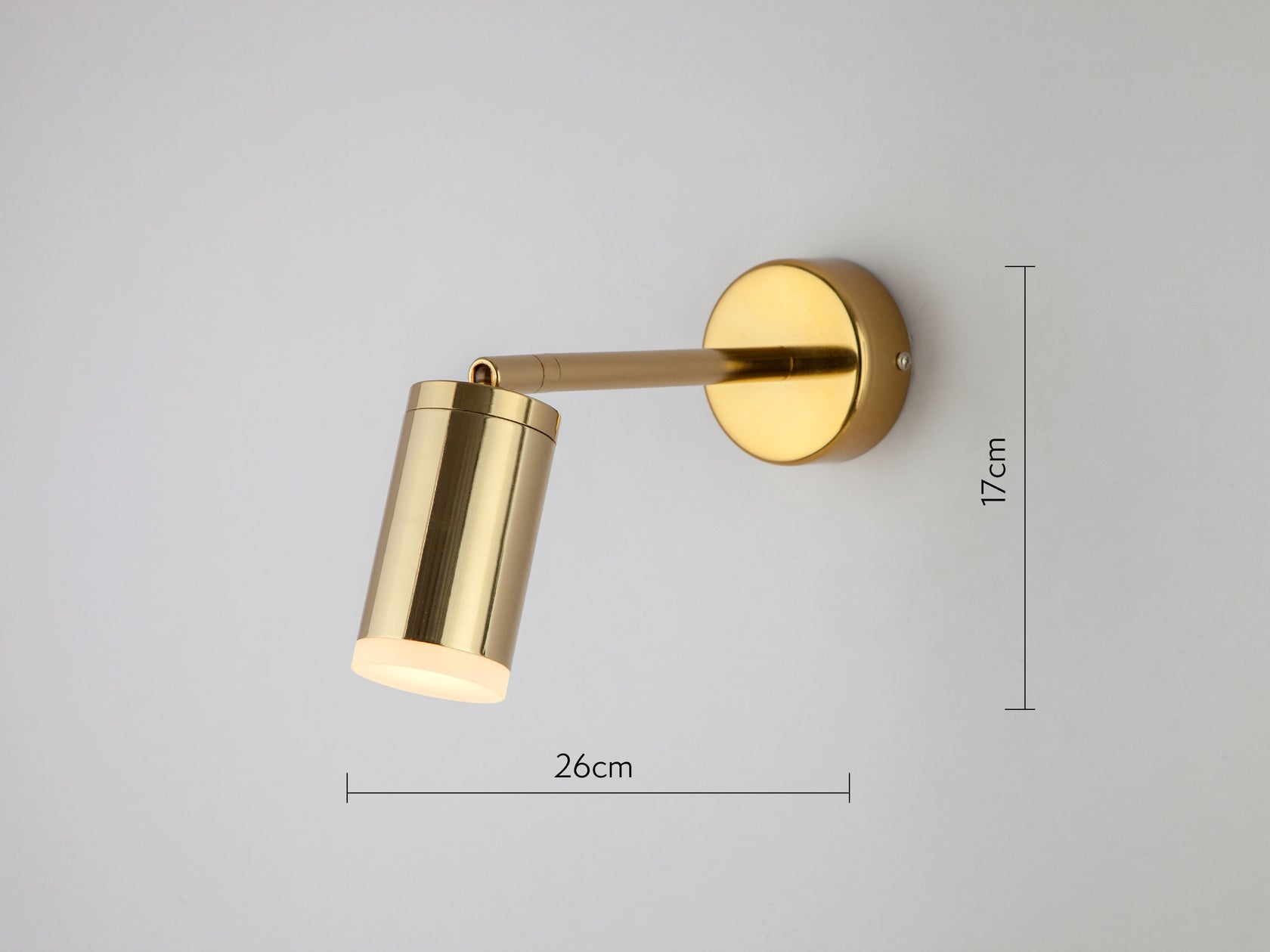 LED task wall light brass | dimension | houseof.com