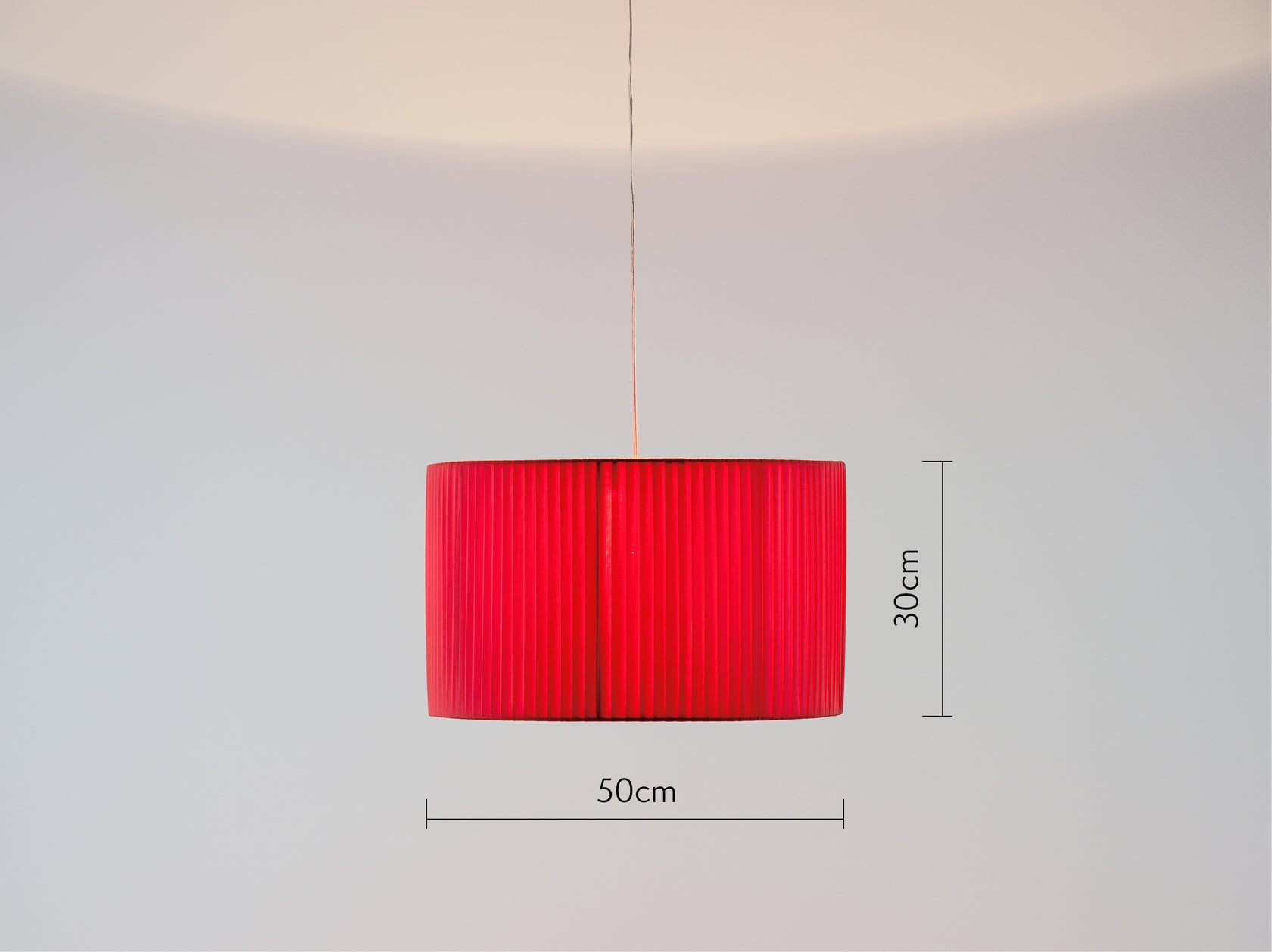 Large pleated shade coral | dimension | houseof.com