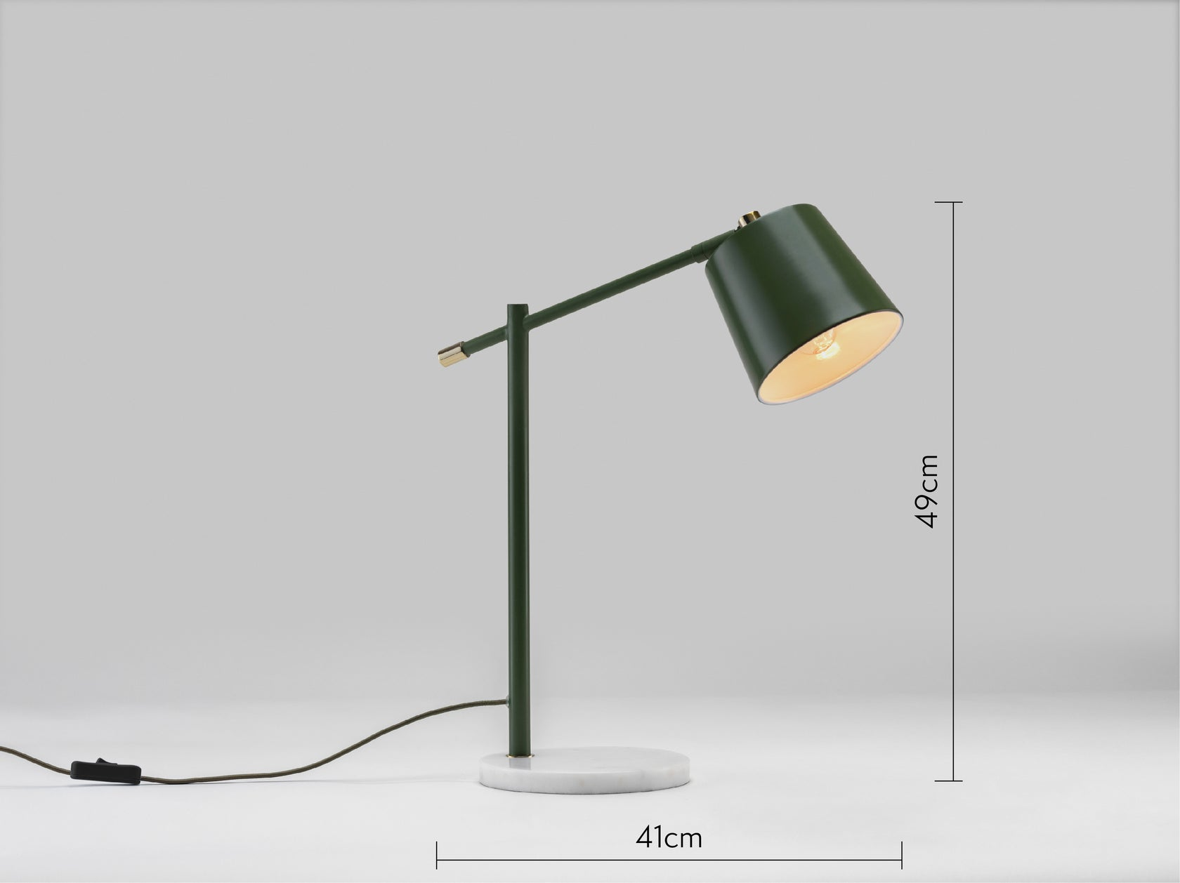 Task desk lamp olive | dimension | houseof.com