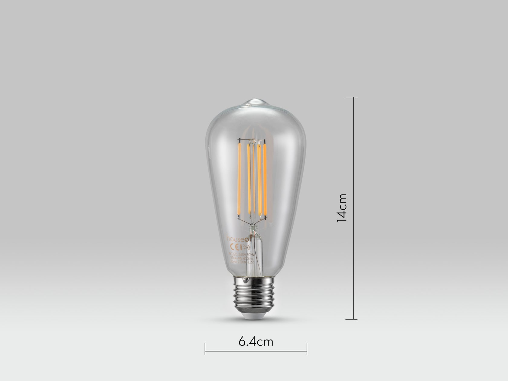 Es led bulb globe 2 | dimensions | houseof.com