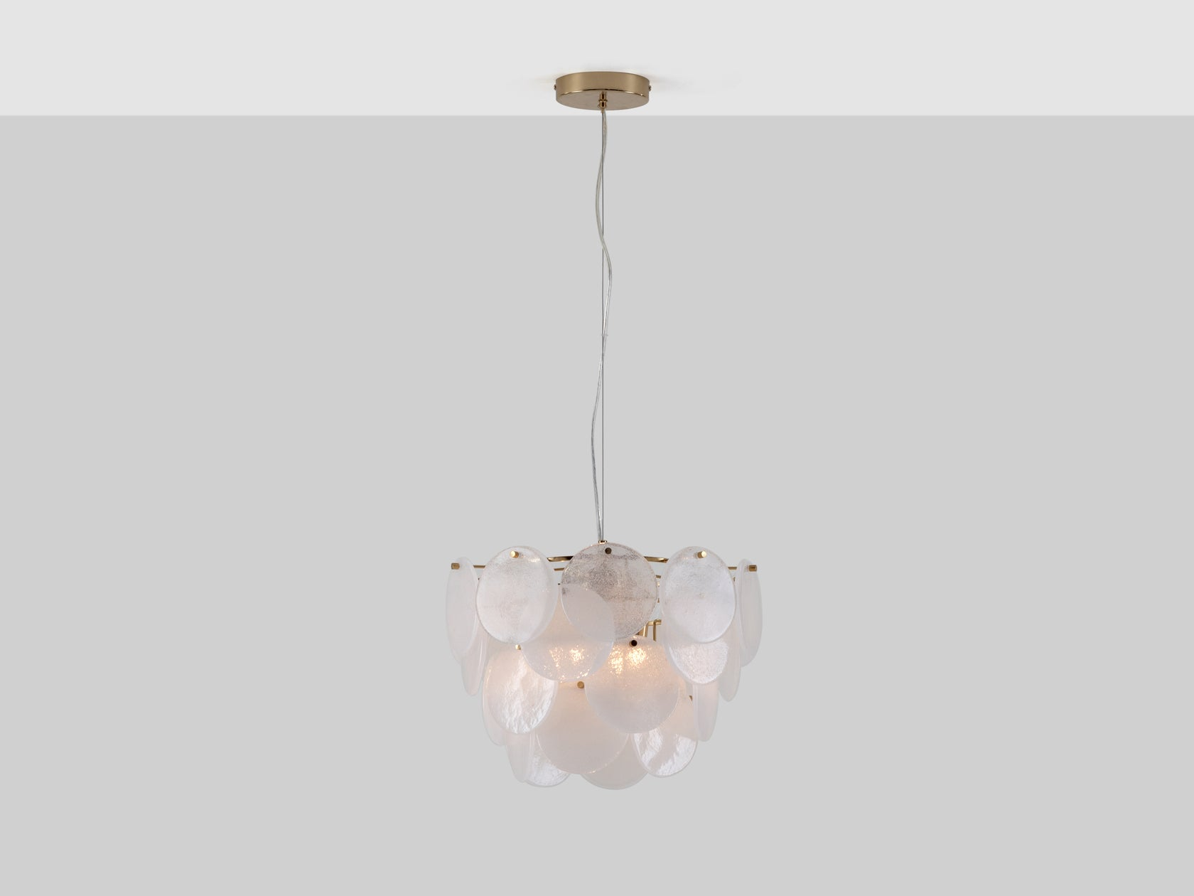 Glass disc ceiling light brass | on | houseof.com
