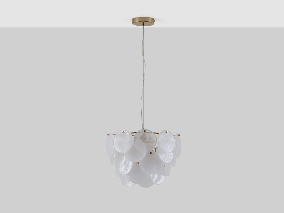Glass disc ceiling light brass | off | houseof.com
