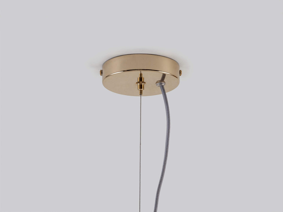 Glass disc ceiling light brass | ceiling | houseof.com