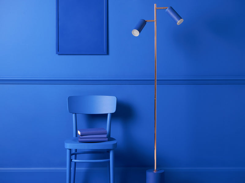 LED task floor lamp pink | context | houseof.com