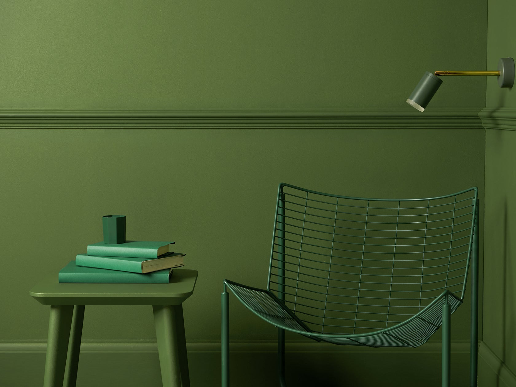 LED task wall light olive | context | houseof.com