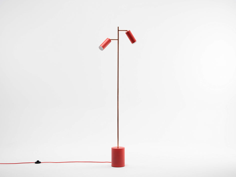 LED task floor lamp coral | off | houseof.com