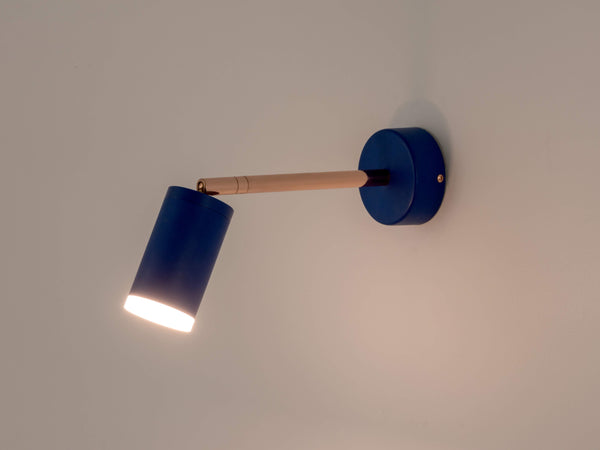 led task wall light blue