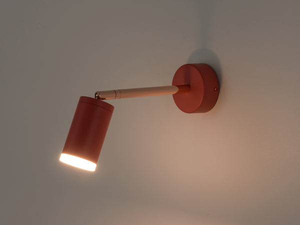 LED task wall light coral | dark | houseof.com
