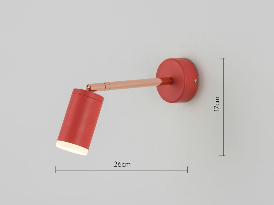 LED task wall light coral | dimension | houseof.com