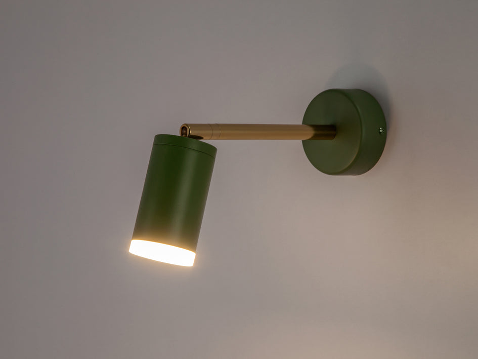 LED task wall light olive | dark | houseof.com