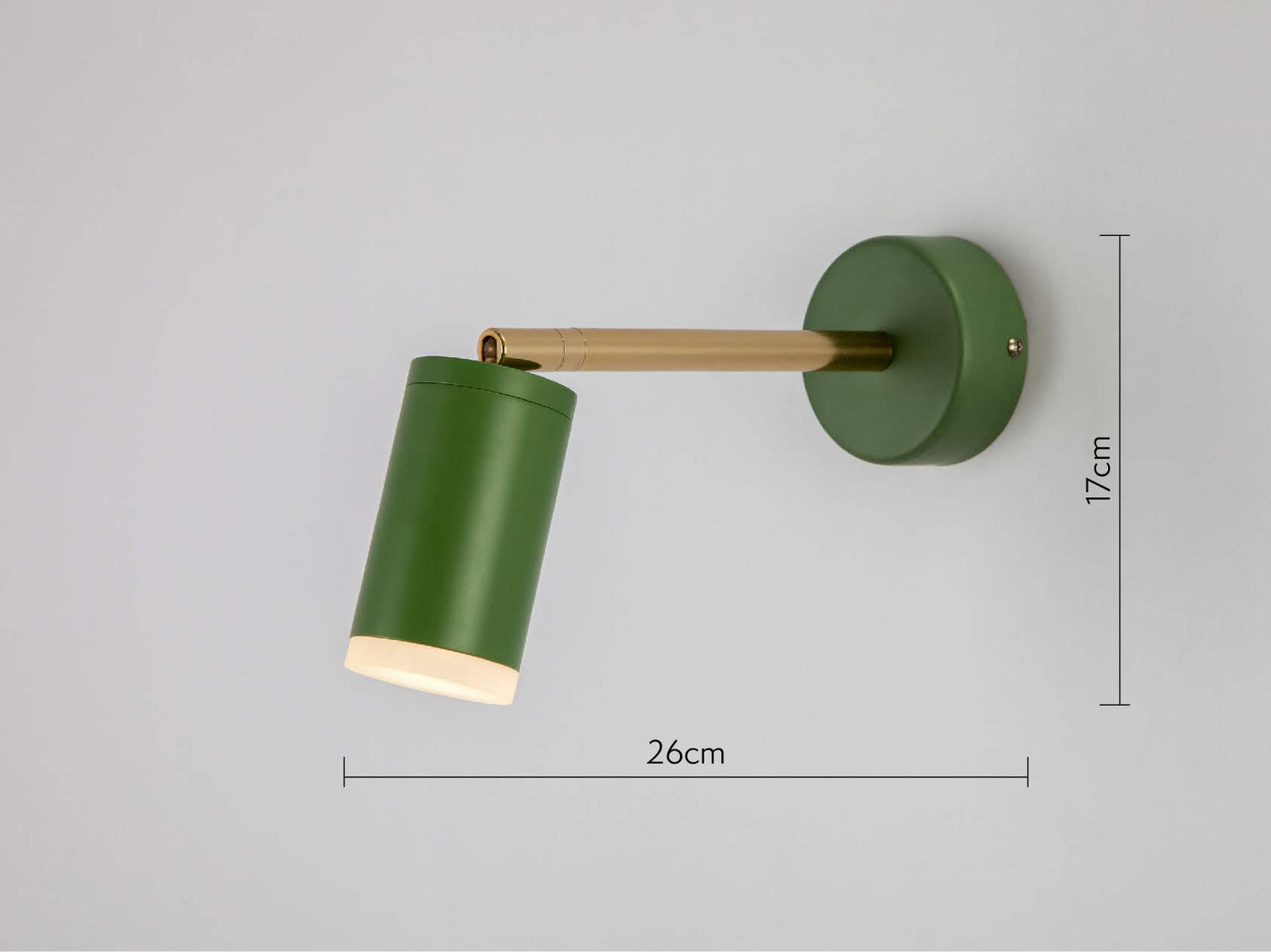 LED task wall light olive | dimensions | houseof.com