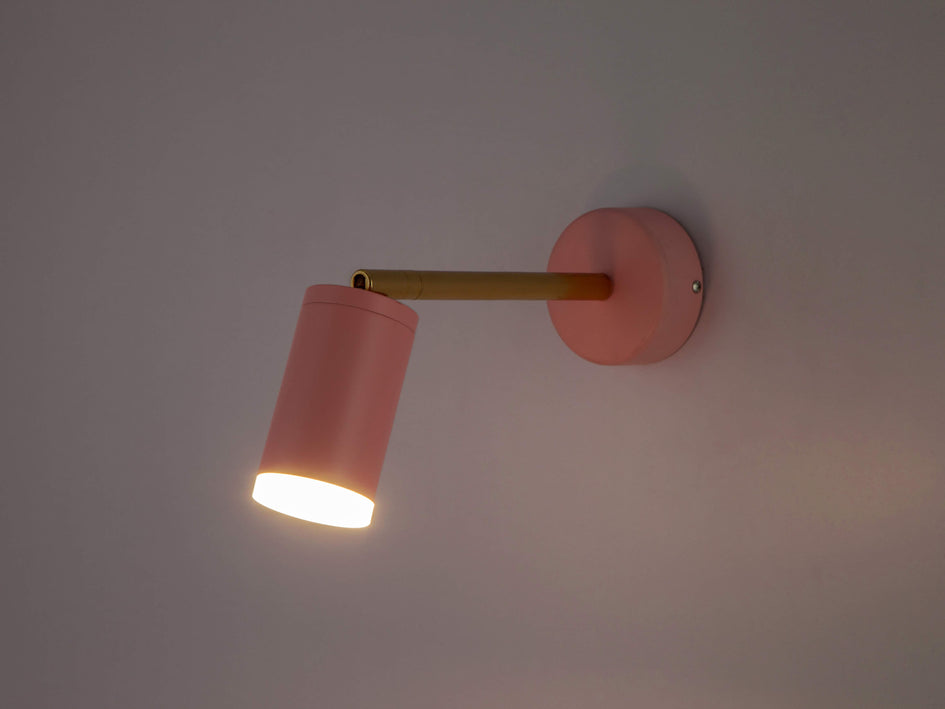 LED task wall light pink | dark | houseof.com