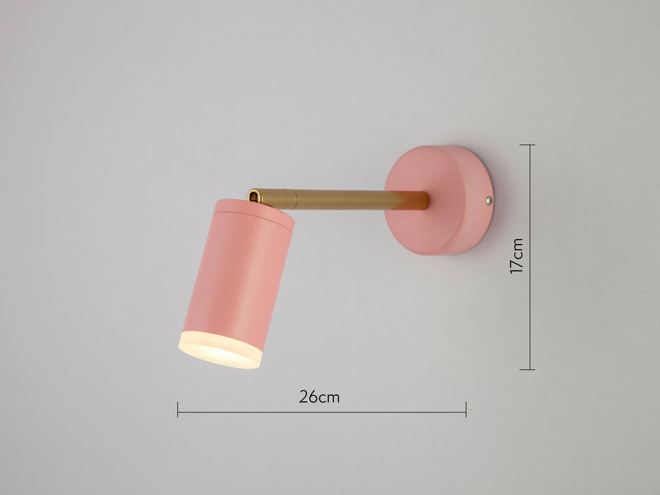 LED task wall light pink | dimensions | houseof.com