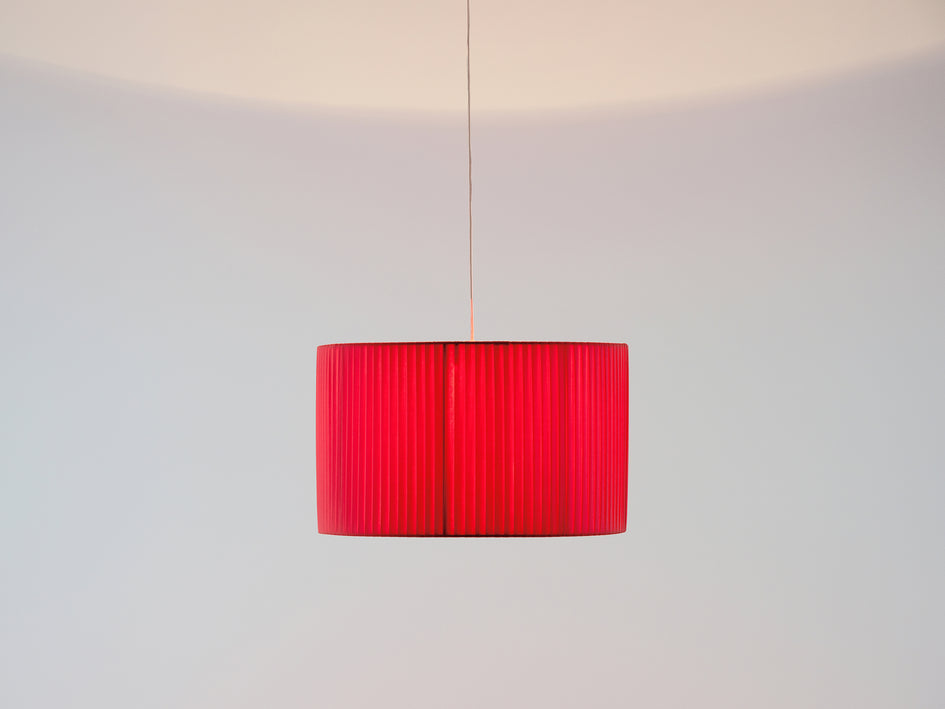 Large pleated shade coral | on | houseof.com