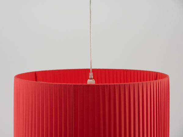 Large pleated shade coral | zoom | houseof.com
