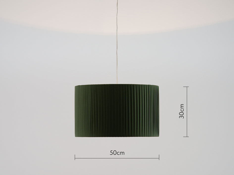 Pleated shade large olive | dimension | houseof.com
