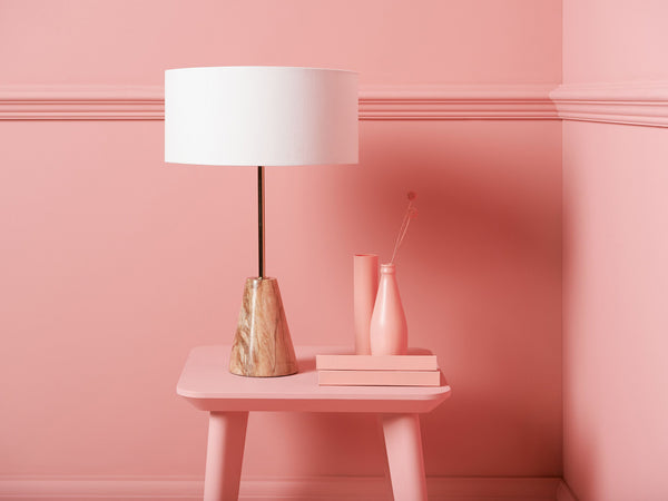 Marble table lamp pink marble | context | houseof.com