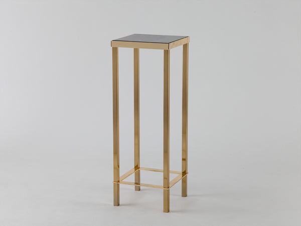 Marble plant stand green marble | side | houseof.com