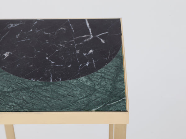 Marble plant stand green marble | zoom | houseof.com