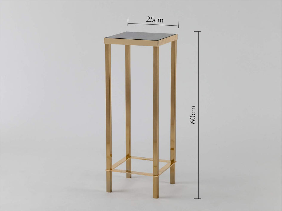 Marble plant stand green marble | dimensions | houseof.com