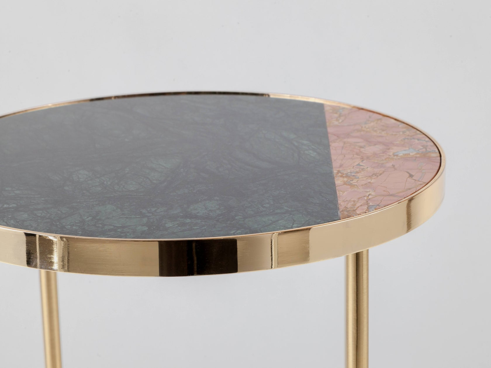 Marble side table pink marble | zoom | houseof.com