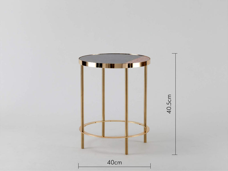 Marble side table pink marble | dimension | houseof.com