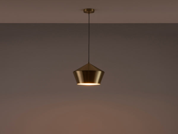 Metal diner pendant brass | dark | houseof.com