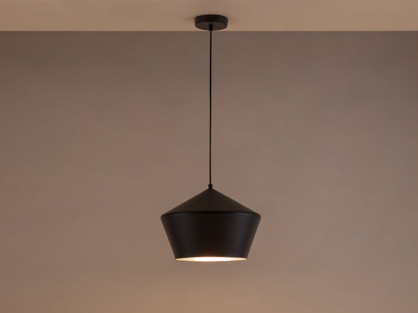 Metal diner pendant charcoal | dark | houseof.com