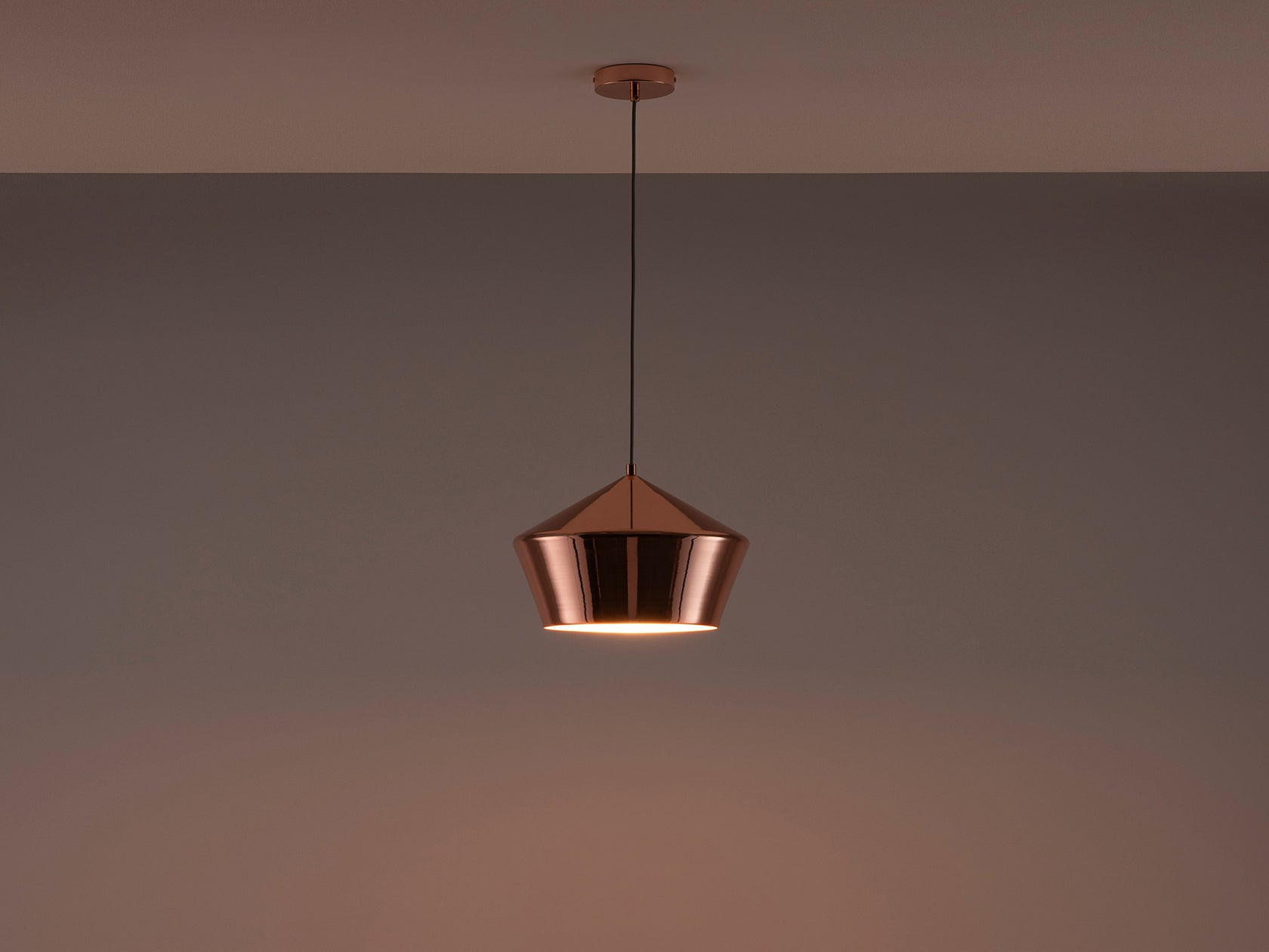 Metal diner pendant copper | dark | houseof.com